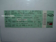 DEEP PURPLE / SCORPIONS Concert Ticket CHICAGO IL 2002 Tweeter Center VERY RARE