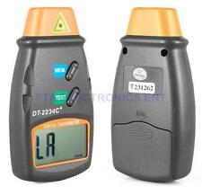 Digital LCD Laser Photo Tachometer Non-Contact RPM Meter Measuring Device Tool