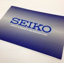 SEIKO Original watch Instructions booklet with Warranty Card 20 Books Total NEW