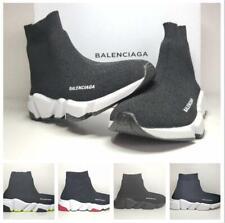 UK Kids Boys Girls Designer Style Knit Speed Sock Runner Shoes Trainers Sneakers