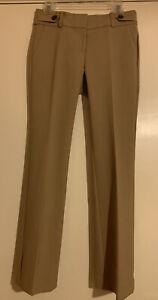 NWT Ann Taylor Tan Brown Devin Fit Flare Leg Trouser Pants Size 4P Amazing Fit!