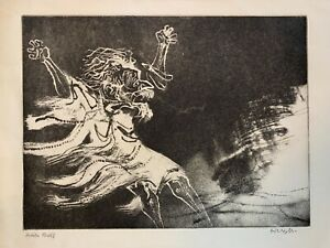 William Gropper Artist Proof Signed Etching with Aquatint 1965