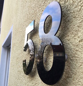 Hausnummer Hochglanz Schwarz 9H01 Acryl - 5 mm / Türnummer - Nummer - Plexiglas