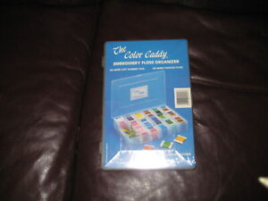 NEW THE COLOR CADDY EMBROIDERY FLOSS ORGANIZER CASE ONLY  100 EMPTY BOBINS