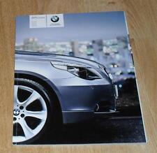 BMW 5 Series E60 Saloon Brochure 2003 - 520i 525i 530i 545i 530D SE