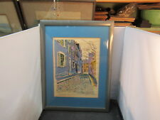 vintage SIGNED LITHOGRAPH - listed artist ROBERT E. KENNEDY