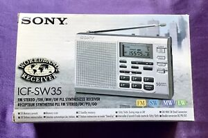 SONY ICF-SW35 FM Stereo SW / MW / LW PLL Synthesized World Radio Receiver BOXED
