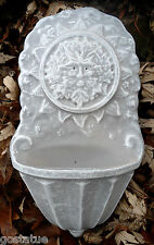 MOLD Poly plastic round face green man water dish/ bird feeder  mold