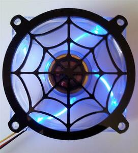 Custom 140mm SPIDER WEB Computer Fan Grill Gloss Black Acrylic Cooling Cover Mod