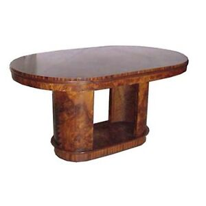 1930 Art Deco Table  desk in Burled Walnut #4964