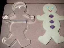 JOB LOT 12  GINGER BREAD MAN BOY  BISCUIT PASTRY FIMO COOKIE CUTTER 7 INCH