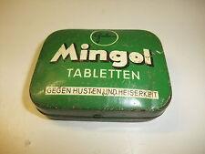 alte Blechdose Reklamedose Dose Mingol Tabletten H. von Gimborn  Reklame Werbung