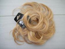 Blk Brown Blonde hair scrunchie bun ponytail extension