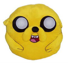 """Adventure Time Jake 14"""" Plush Yellow Pillow with tags"""