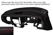 Rojo Stitch Dash Dashboard Leather Piel tapa se ajusta Mitsubishi L200 K74 98-06