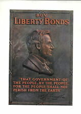 1919 Abraham Lincoln By The People For Mini Poster WW1 Liberty Loans War Bonds