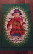 Vtg linen tea towel fiddler Irish eyes are smiling danny boy Lamont Cameo Series