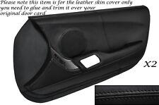 BLACK STITCH 2X FULL DOOR CARD LEATHER SKIN COVER FITS TOYOTA SUPRA MK4 93-02