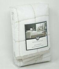 Hotel Collection Waffle Weave Quilted Cotton Linen Pillow Sham - KING - White
