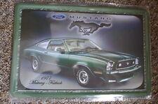 Mustang 1977 Green Tin Metal Sign Painted Poster Comics Book Wall Home Art Hero