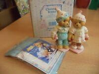 VINTAGE BOXED retired cherished teddies TEDDY BEAR CRAIG & CHERI 1995 156485