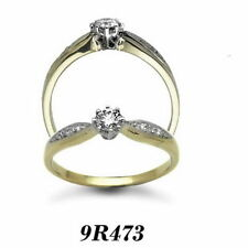 Solitaire Yellow Gold Very Good I2 Fine Diamond Rings