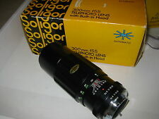 MINOLTA SR FIT 300MM F5.5 SOLIGOR TELEPHOTO LENS FILM/DIGITAL BOXED