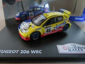 841K Rare NOREV Collection 472615 Peugeot 206 WRC #46 Rac 2002 Rossi 1:43 Box
