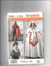 Simplicity Adult Unisex   Capes Costume   ---   Sewing Pattern 1040