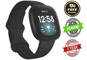 NEW Fitbit VERSA3-BLACK(FB511BKBK) Versa 3 Black/Black Aluminium