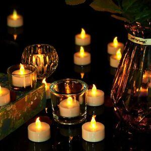 72x Led Tea Lights Candles FLAMELESS Wedding Party XMAS Halloween Home Bar Decor