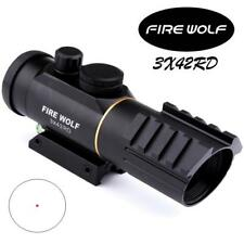 New Style 3X42 Red Green Dot Sight Scope Fit 11MM 20MM Rail Rifle Scopes