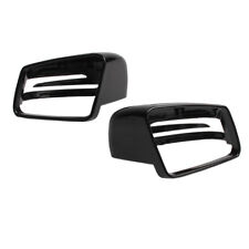 Black Wing Mirror Cover Fit For Mercedes Benz S C E B Class W204 11-14 GLA 15-18