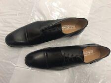 Para hombre de cuero negro que Rentis Derby Con Cordones Zapatos Talla EU46 Reino Unido 12
