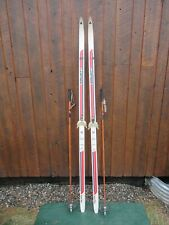 "Ready to Use Cross Country 78"" Long LAMPINEN 200 cm Skis + Bamboo Poles"