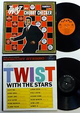 TWIST lot of 2 LPs CHUBBY CHECKER Twist With The Stars  sm1348