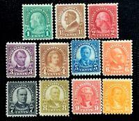 US Stamp SC#581-591 Regular Issue Perf. 10 Mint Complet Set CV:$176