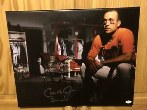 Cal Ripken Jr signed 16x20 Canvas with JSA Authenticated W/ Ironman inscription