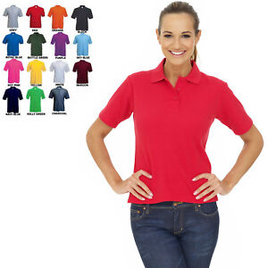 Ladies & Girls Premium Loose Fit Polo T Shirt Size 6 to 32 - CASUAL WORK SPORT