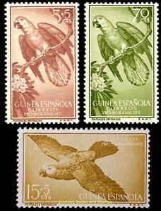 EBS Spanish Guinea 1957 - For Natives BIRDS - Pro Indigines - Edi. 365-367 MNH**