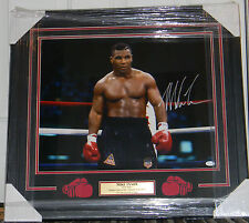 """MIKE TYSON SIGNED PHOTO AUTO 16X20 FRAMED & MATTED JSA COA """"IRON MIKE"""""""
