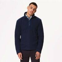 Regatta Mens Elgon IV Half Zip Fleece Top Blue Navy Sports Outdoors Warm
