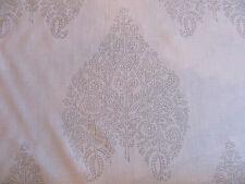 "Beautiful Quadrille Fabric ""TAJ"" in Grey on Cream Linen 6 Yards"