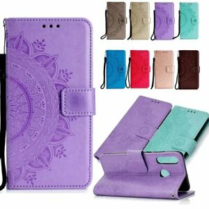 For Huawei P20 P30 Mate9 10 20 X Lite Pro Flip Pattern Strap Leather Wallet Case