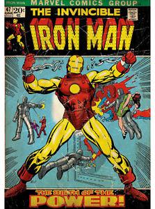 Fathead Iron Man #47 Marvel Comics Heroes Wall Decor Birth Of Power New 96-96023
