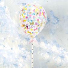 Confetti Foil Balloon 5'' Colourful Birthday Party Cake Topper Decoration Set