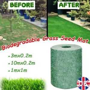 Biodegradable Green Grass Seed Mat Fabric Planting Fertilizer Roll Garden Picnic