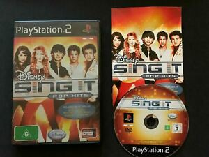 Disney Sing It Pop Hits - Playstation 2 PS2 Game PAL with manual