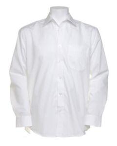 """Kustom Kit Mens Business Poplin Shirt Long Sleeved Office  KK104 - White 14.5"""""""