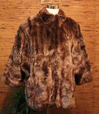 Faux Fur Winter Coat Dennis by Dennis Basso Size L Thick Warm Zip Up Front LN